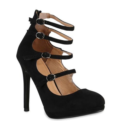 Damen Pumps High Heels - Schwarz