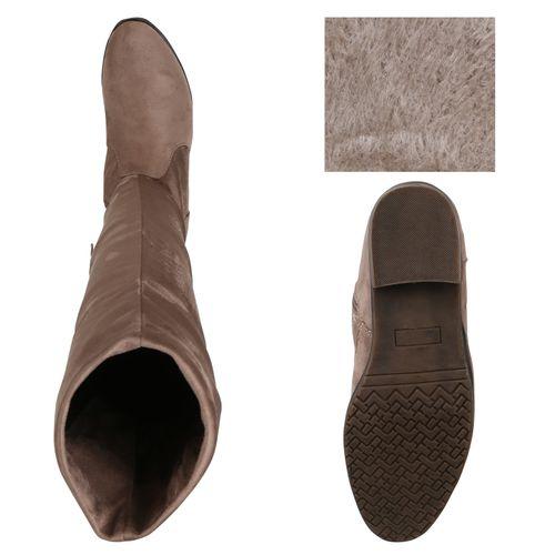 Khaki Stiefel Damen Stiefel Damen Overknees axw0q1OOT