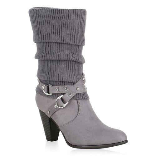 Damen Grau Klassische Stiefel Klassische Stiefel Damen Grau xU0wZx