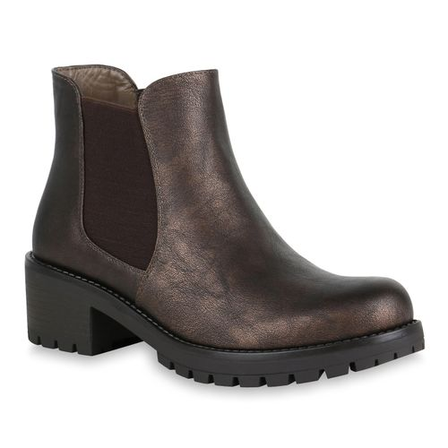 Bronze Boots Damen Damen Stiefeletten Stiefeletten Chelsea X8qHX