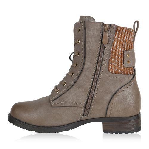 Billig Damen Schuhe Damen Stiefeletten in Khaki 819749481