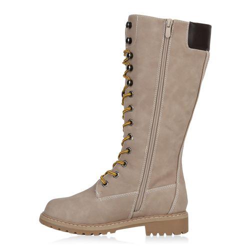Creme Stiefel Creme Damen Stiefel Boots Stiefel Worker Boots Damen Worker Damen Worker Y7ddpA