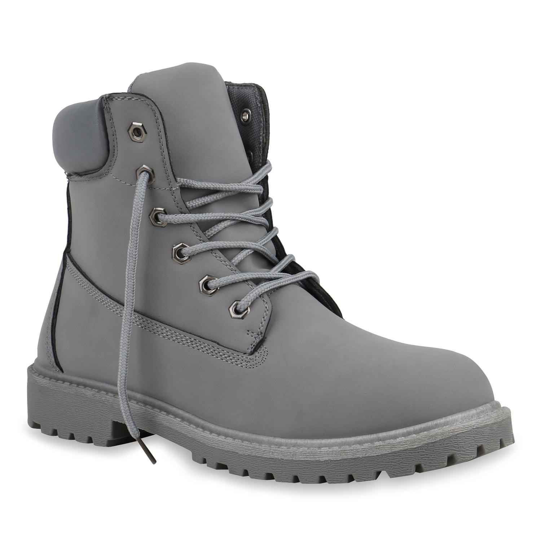 Herren Worker Boots - Grau