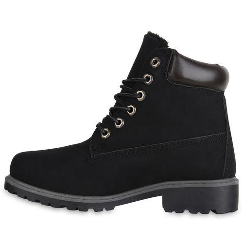 Damen Boots Worker Damen Schwarz Stiefeletten Stiefeletten xIOPwxHq