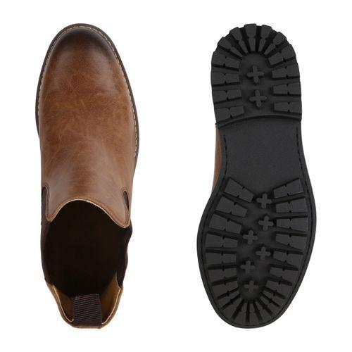 Herren Chelsea Boots - Braun