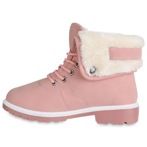 Rosa Damen Stiefeletten Boots Winter Damen Stiefeletten BqXawnEOEx