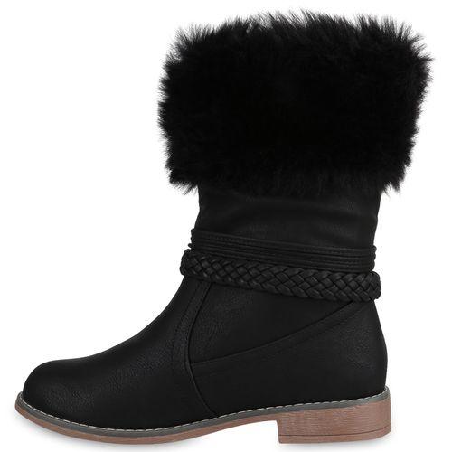 Damen Stiefel Schlupfstiefel - Schwarz