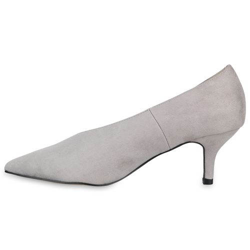 Damen Spitze Pumps - Grau