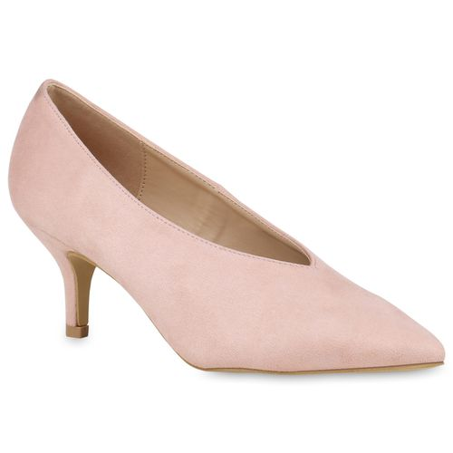 Damen Pumps Spitze Pumps - Nude