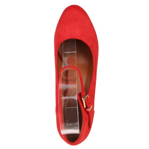 Damen Pumps Mary Janes - Rot