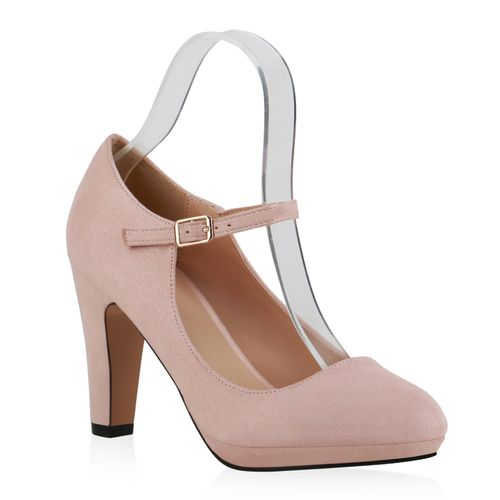 Damen Pumps Mary Janes - Rosa