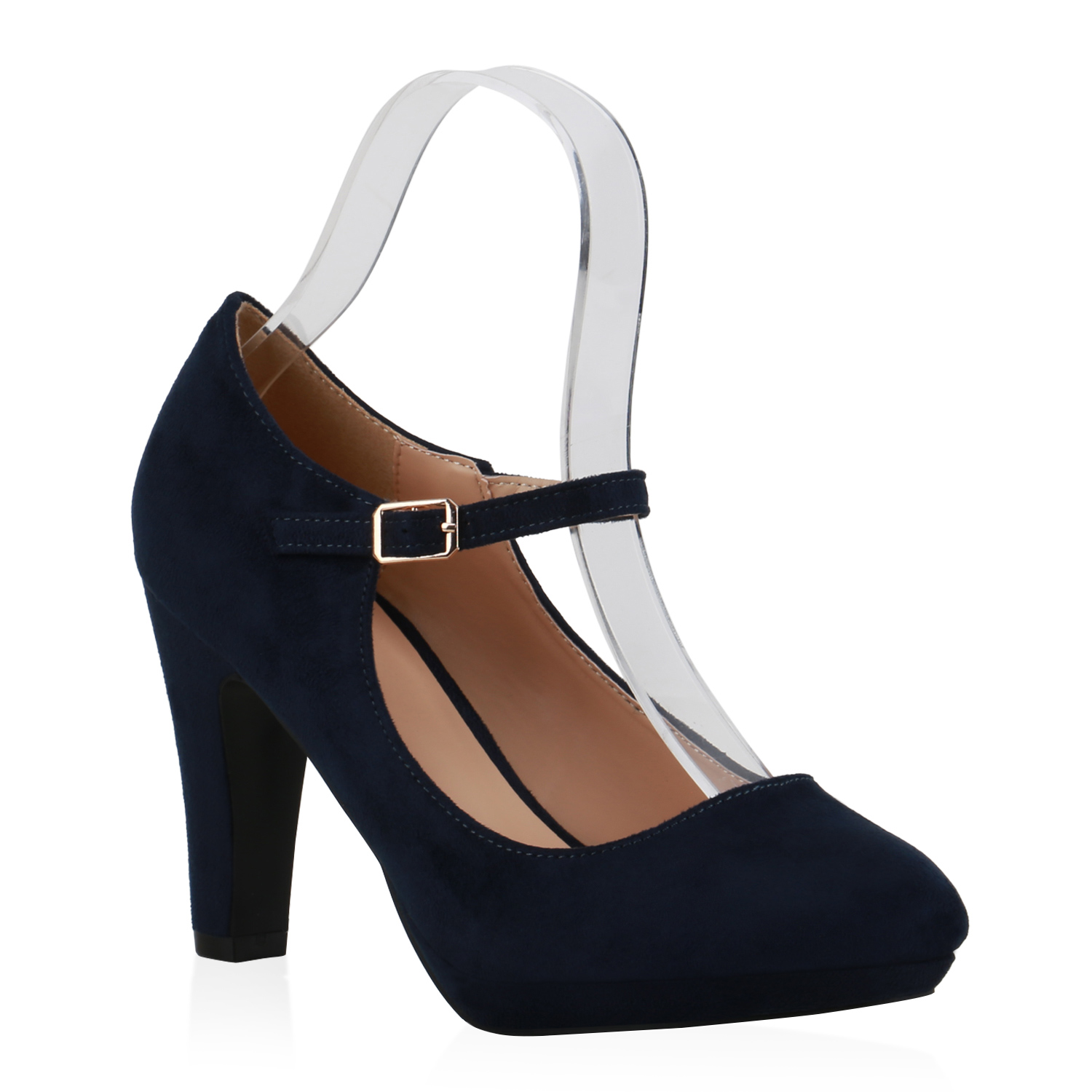 Damen Pumps Mary Janes - Dunkelblau