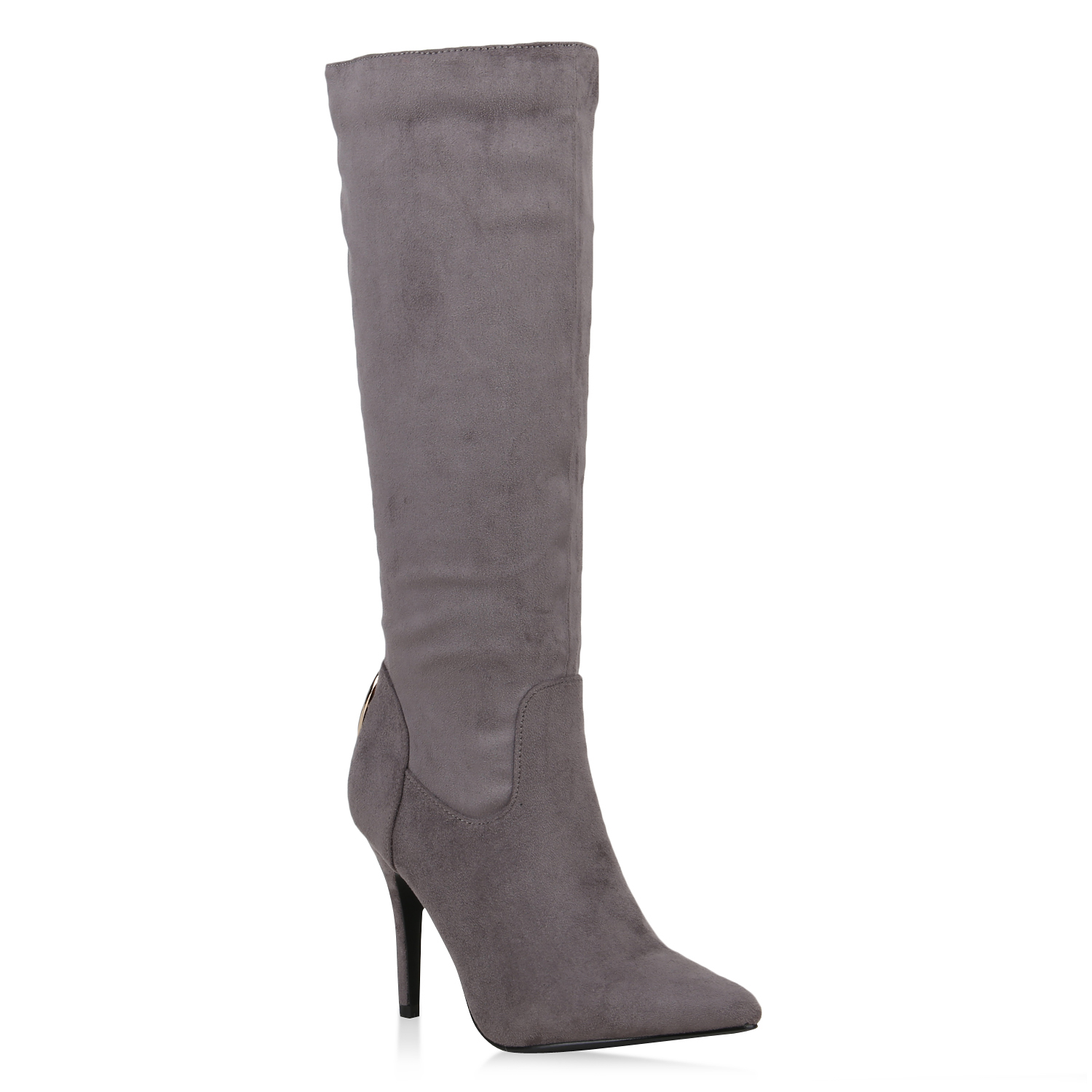 Damen Stiefel High Heels - Grau