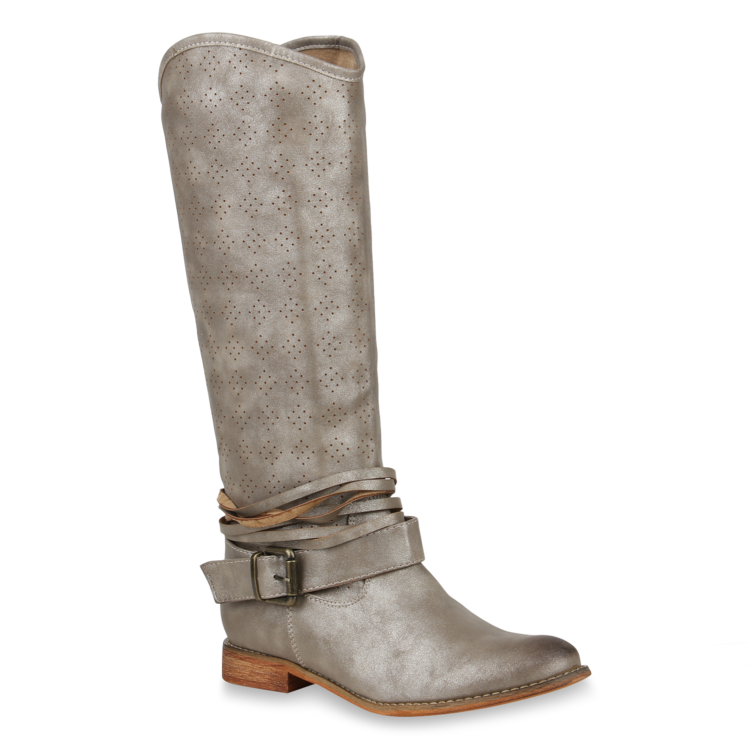 f94df4203a9d40 Damen Stiefel in Gold (820196-155) - stiefelparadies.de