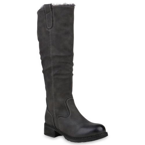 Klassische Damen Stiefel Klassische Grau Stiefel Damen S8wZ0O