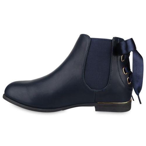 Dunkelblau Chelsea Damen Stiefeletten Boots Chelsea Boots Stiefeletten Damen Bqvwtnx0