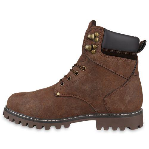 Herren Boots Worker Boots - Dunkelbraun