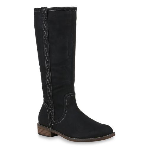 Damen Klassische Stiefel Schwarz
