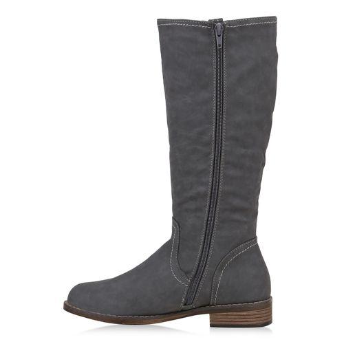 Klassische Damen Grau Damen Klassische Stiefel Stiefel RPqaY6