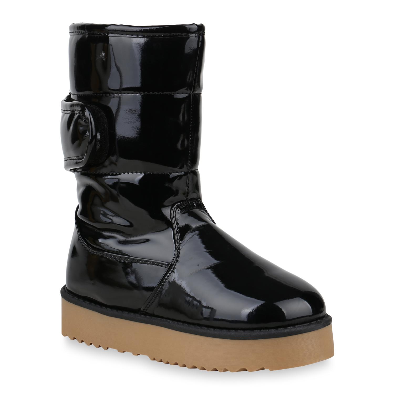 Damen Stiefeletten Winter Boots - Schwarz