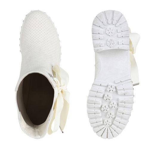 Stiefeletten Chelsea Boots Damen Stiefeletten Damen Creme xYqExTf1