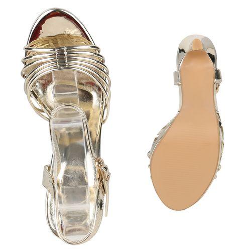 Damen Damen Riemchensandaletten Sandaletten Gold Sandaletten Bxn8Z5qU