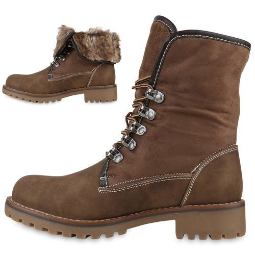 Worker Damen Damen Stiefeletten Stiefeletten Worker Khaki Boots Boots Khaki gvYfq