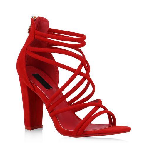 Sandaletten Heels High Rot Rot Rot Heels Heels Sandaletten Damen Damen Damen High Sandaletten High 86qwH
