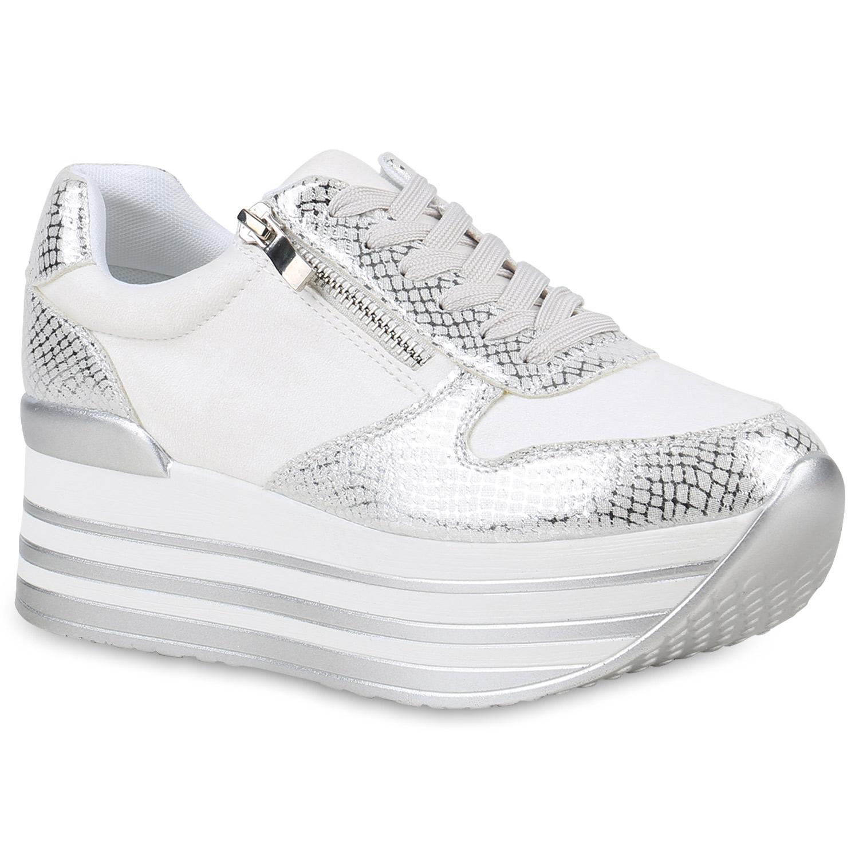 e7716c33a69bfb Damen Sneaker in Weiß (820386-686) - stiefelparadies.de