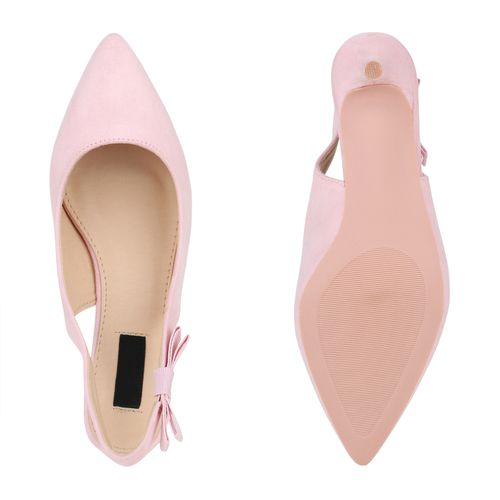 Damen Pumps Slingpumps - Rosa