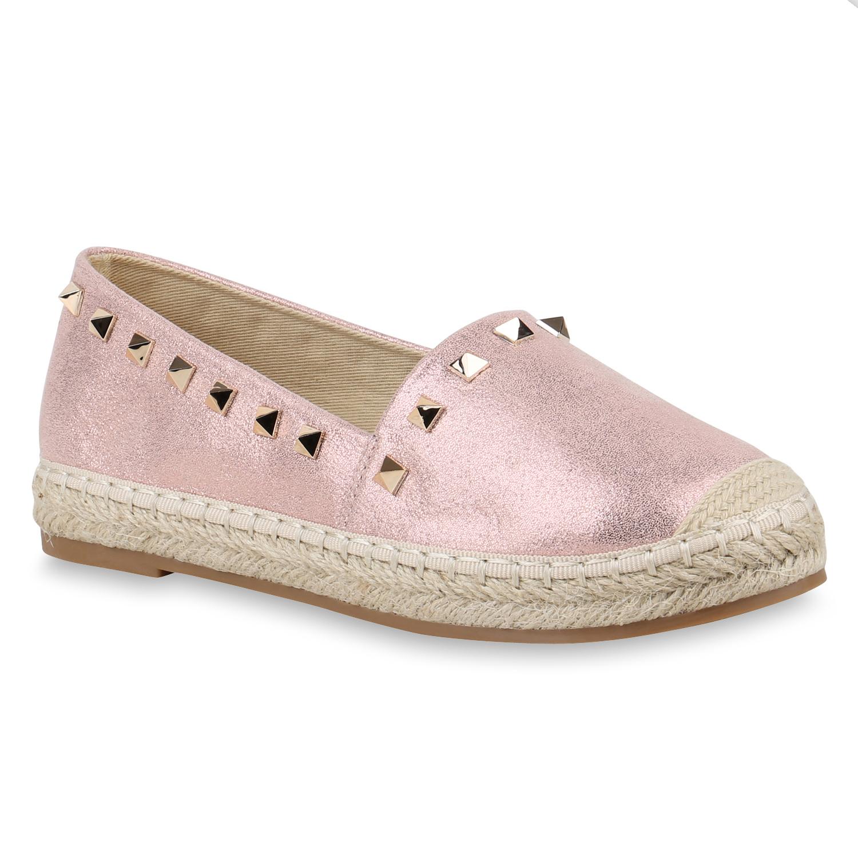 Slipper - Damen Slippers Espadrilles Rosa › stiefelparadies.de  - Onlineshop Stiefelparadies