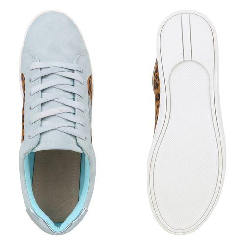 Sneaker Sneaker Sneaker Hellblau Hellblau Low Damen Damen Low Low Damen RfqwIan0xq