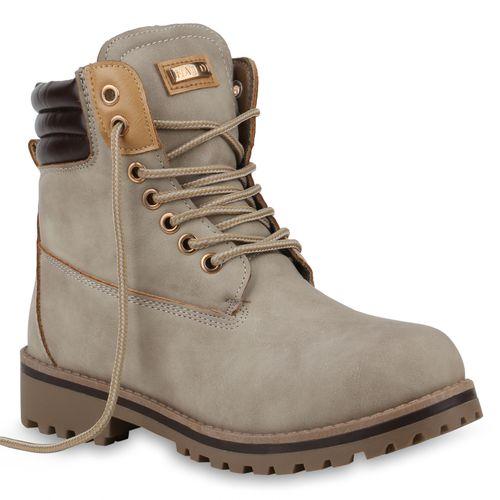 Damen Damen Stiefeletten Stiefeletten Creme Worker Worker Damen Creme Boots Boots Stiefeletten Boots Worker xTtgwqA8