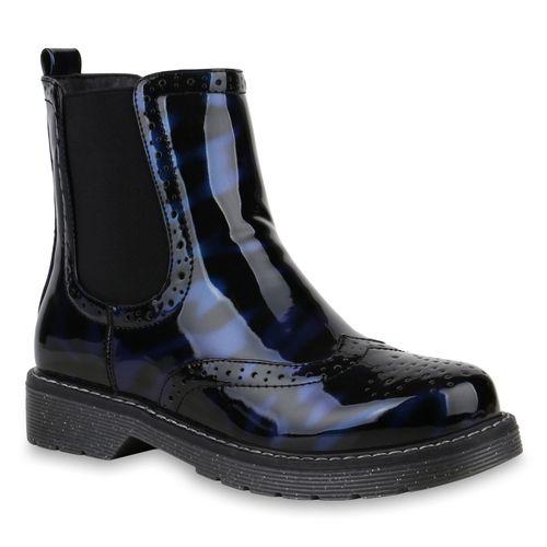 Stiefeletten Damen Boots Dunkelblau Stiefeletten Damen Chelsea Boots Chelsea TrqwrpIWn