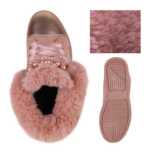 Damen Plateau Sneaker - Rosa