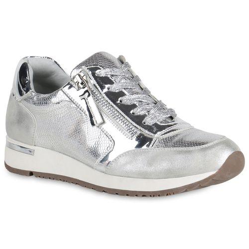 Damen Sportschuhe in in Sportschuhe Silber (820516 526) stiefelparadies  0efea7