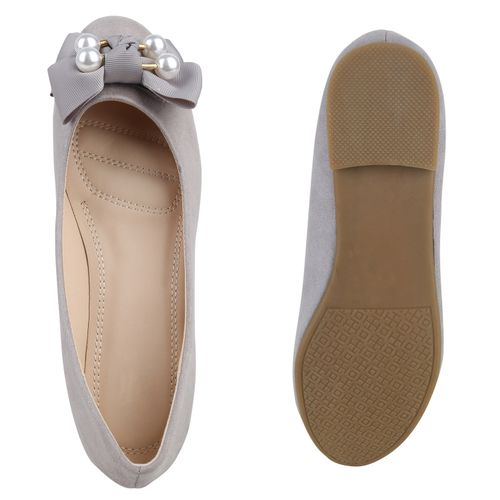 Damen Ballerinas Klassische Ballerinas - Grau
