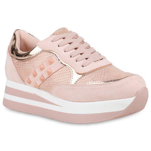 timeless design efaac c5383 Damen Plateau Sneaker - Rosa