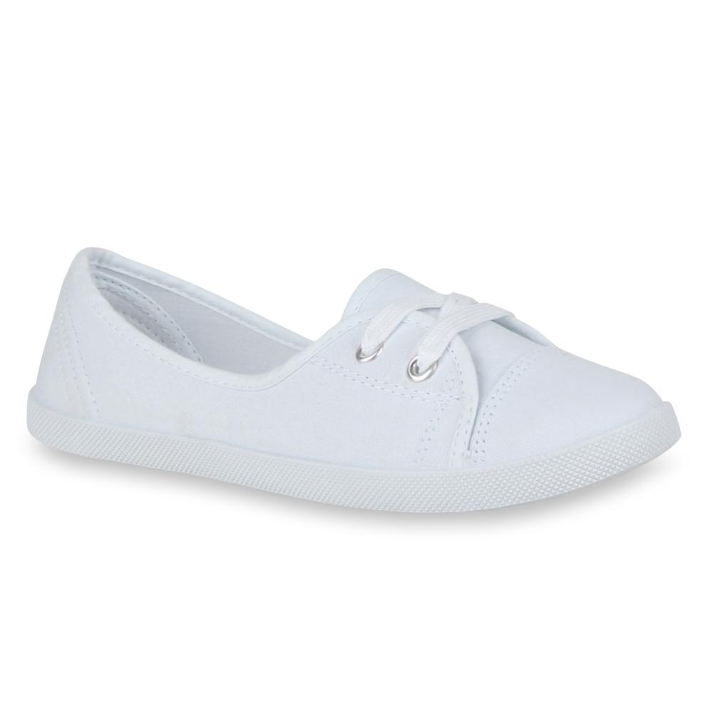 Ballerinas - Damen Sportliche Ballerinas Weiß › stiefelparadies.de  - Onlineshop Stiefelparadies