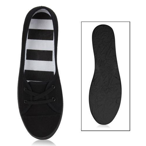 Damen Sportliche Ballerinas - Schwarz Weiß
