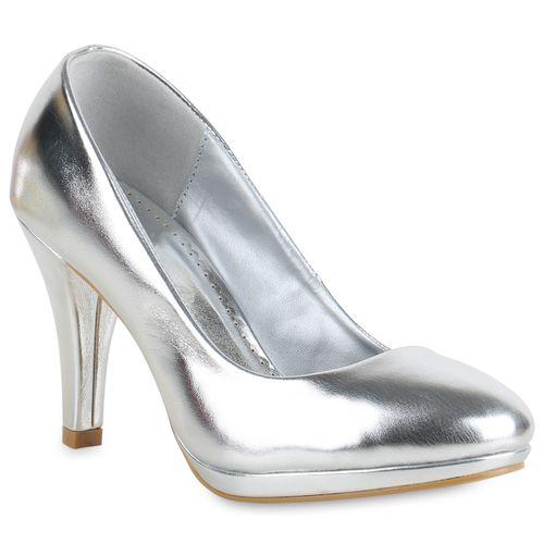 Damen Pumps Klassische Damen Silber Silber Damen Pumps Klassische Klassische 7qUBtw