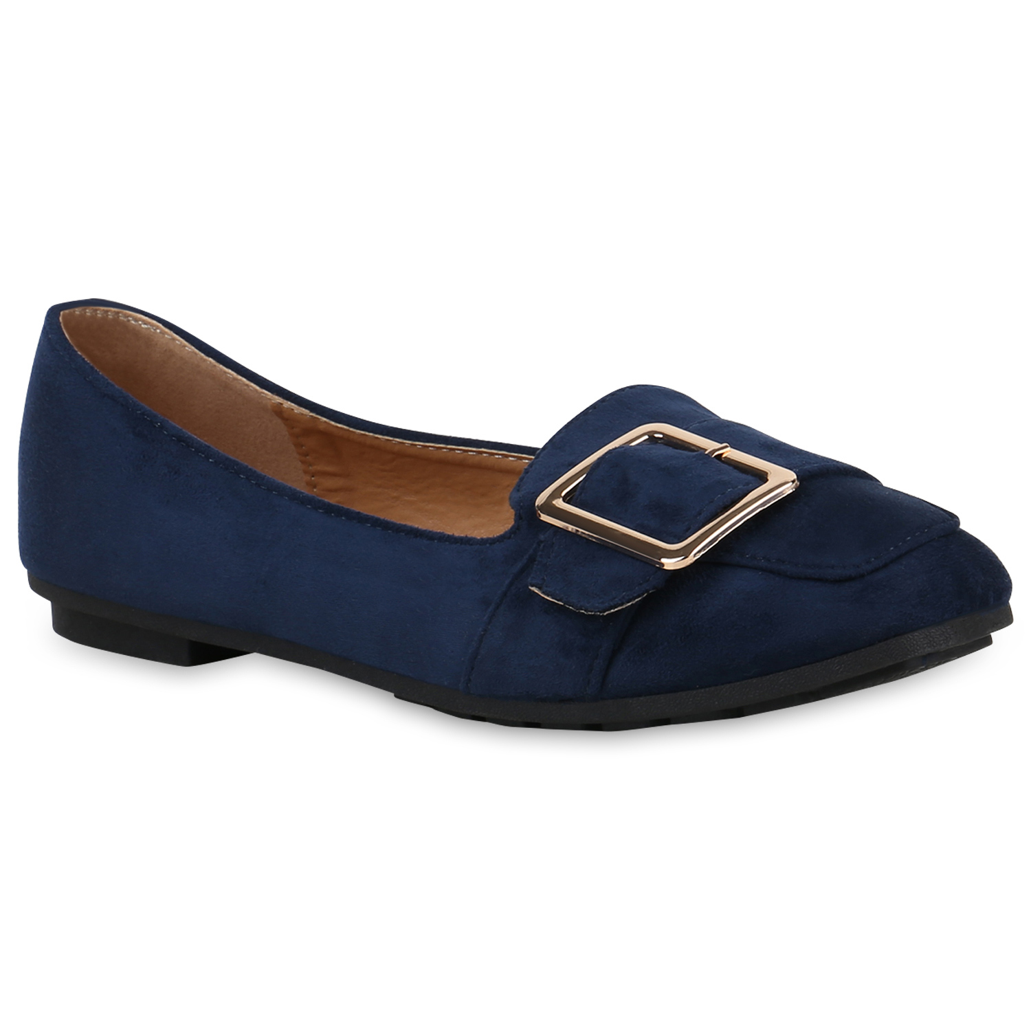 Damen Slippers Loafers - Dunkelblau