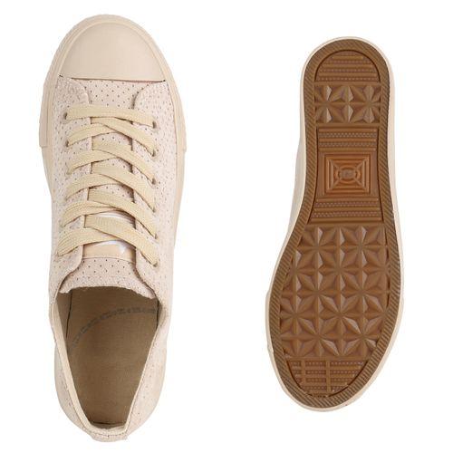 Damen Creme Sneaker Damen Damen Low Sneaker Low Creme qfwZrP5qn