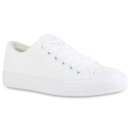 Damen Damen Weiß Low Sneaker Sneaker 51CTqwxpZ0