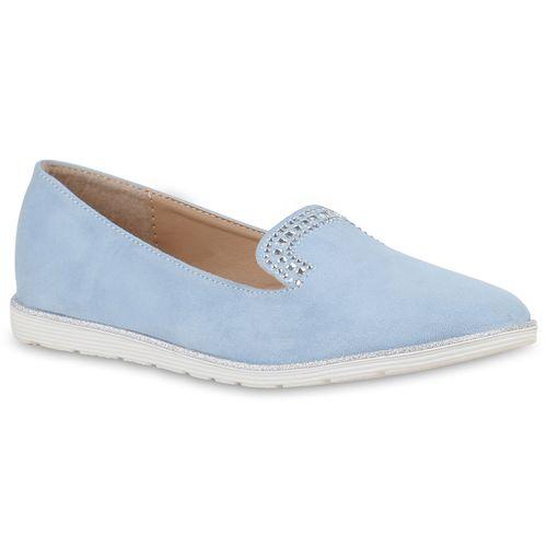 Hellblau Slippers Loafers Hellblau Slippers Loafers Damen Damen Damen Slippers 8w1nO5q
