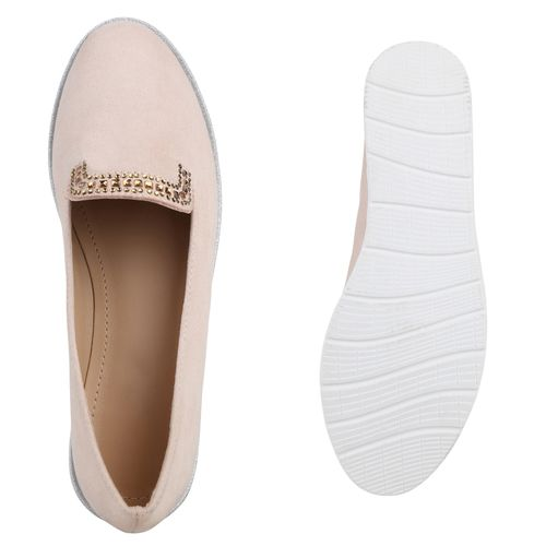 Creme Damen Slippers Loafers Damen Slippers Loafers dFwf4qXx1