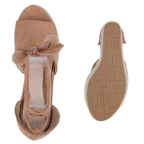 Sandaletten Damen Damen Khaki Plateau Plateau ptgdqxw55