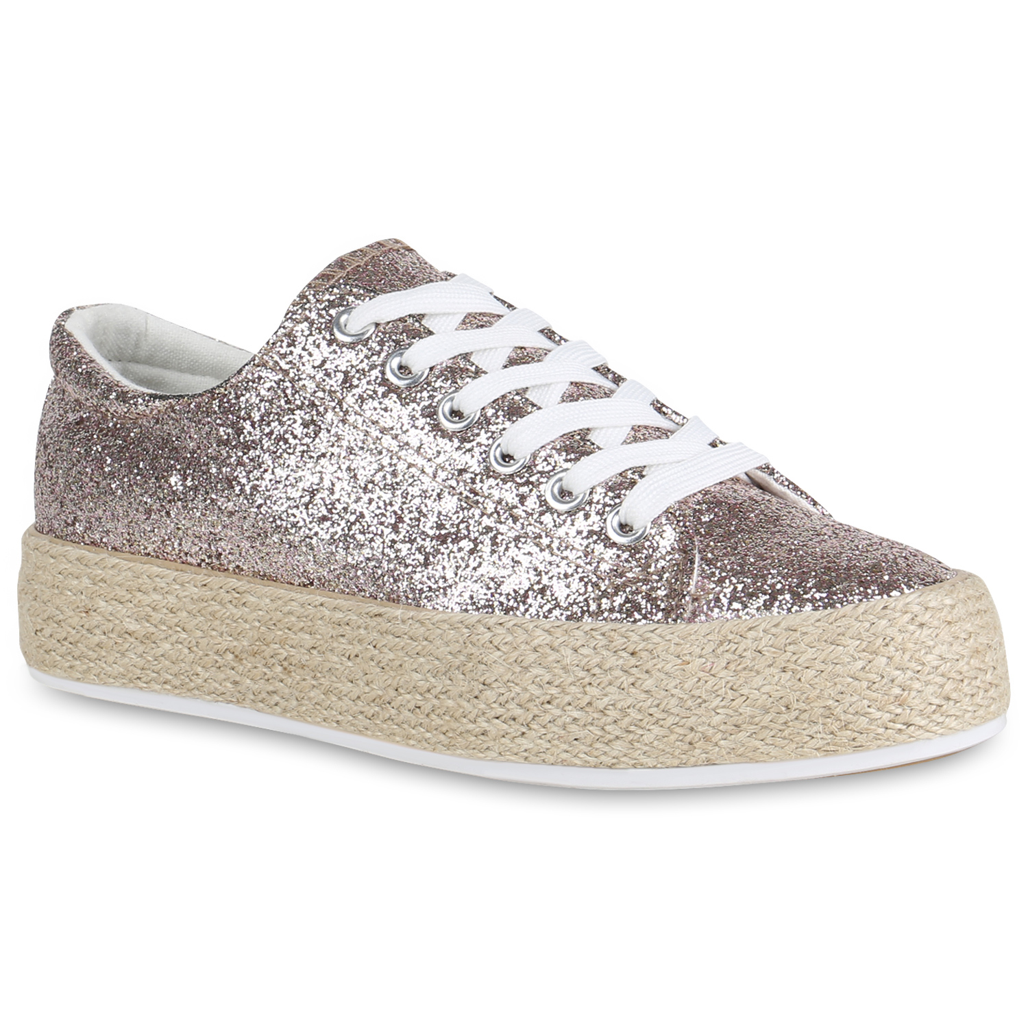 Damen Plateau Sneaker - Rose Gold
