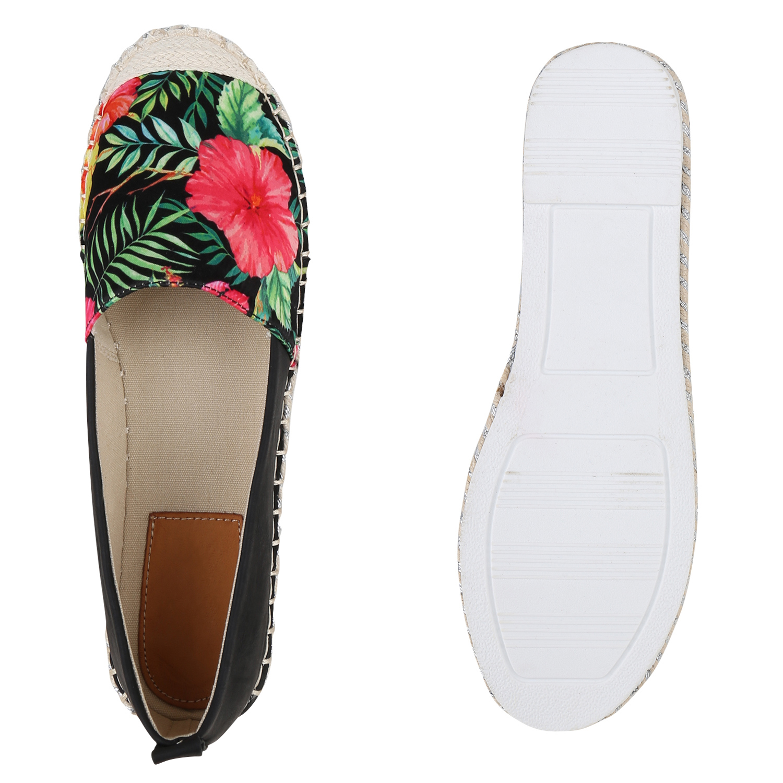 Damen Espadrilles Plateau Slippers Prints Slip Ons Bast Schuhe 820749 New Look