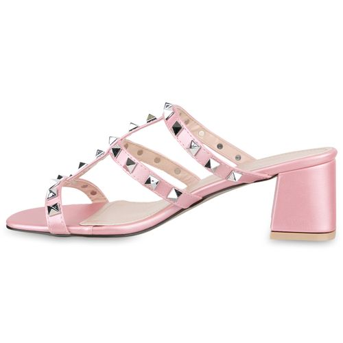 Damen Rosa Rosa Pantoletten Damen Sandaletten Damen Sandaletten Pantoletten 8qg0wxdx4